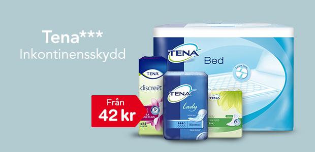 Tena inkontinensskydd från 41 kr