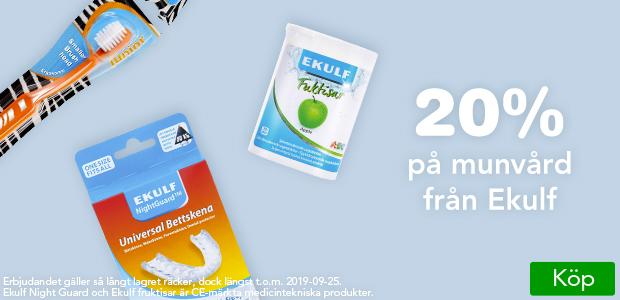 20% på Ekulf munvårdsprodukter.