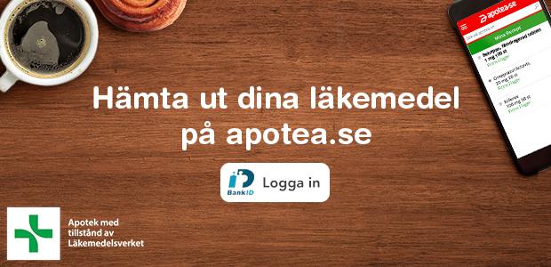 Hämta ut dina receptbelagda läkemedel på apotea.se.