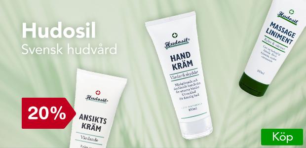 20% på Hudsoil. Svensktillverkad hudvård.