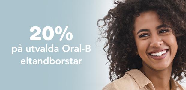 20% rabatt på utvalda Oral-B eltandborstar