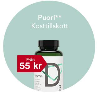 Puori kosttillskott från 55 kr