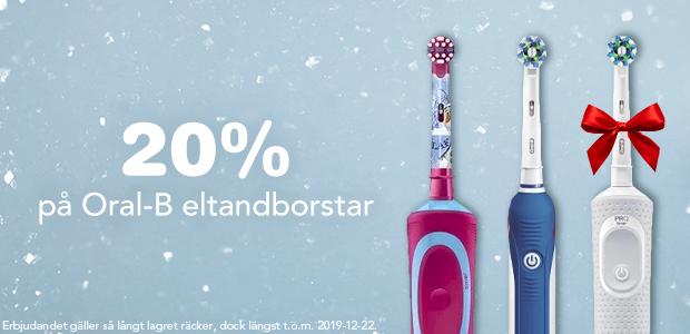 20% på Oral-B eltandborstar
