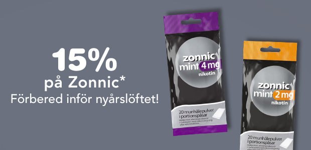 15% på Zonnic*