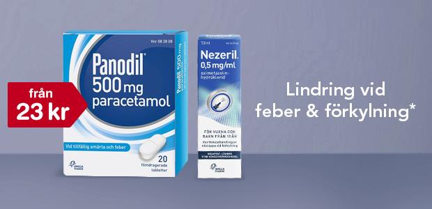 15% på Panodil*, Nezeril* och Nezefri*