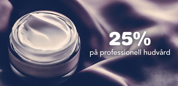 25% på professionell hudvård