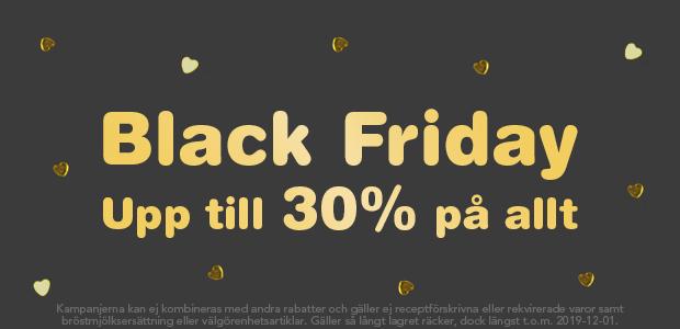 Black Friday firas med upp till 30% på ALLT*!