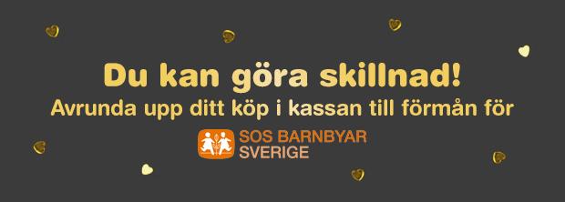 Avrunda ditt köp för SOS Barnbyar
