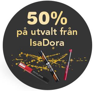 50% på utvalda mascaror från Isadora