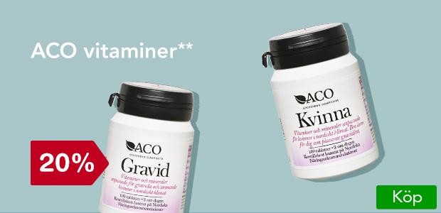 20% på ACO vitaminer