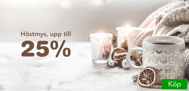 Upp till 25% på ljus, choklad och te