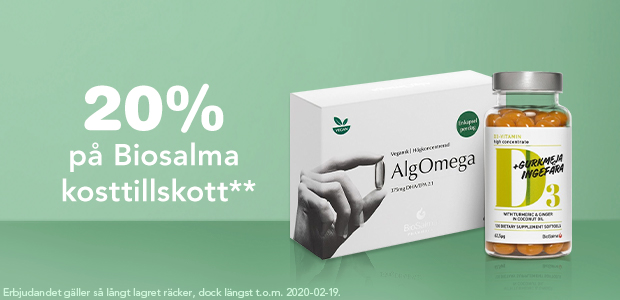 20% på Biosalma kosttillskott**