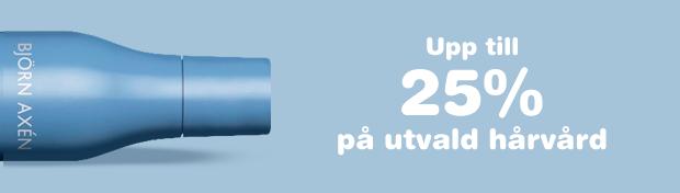 Upp till 25% på utvald hårvård