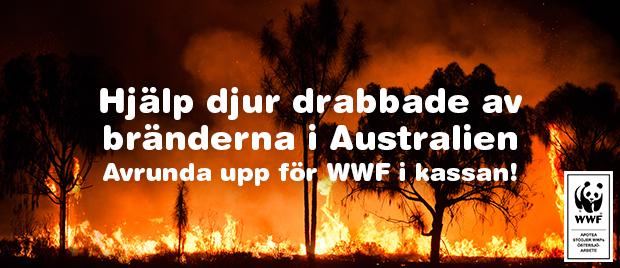 Avrunda upp till förmån för bränderna i Australien