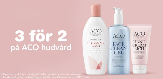 3 för 2 på Aco hudvård