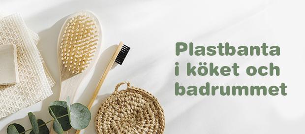 Plastbanta i köket och badrummet