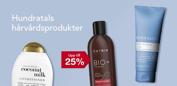 Upp till 25% på hundratals hårvårdsprodukter