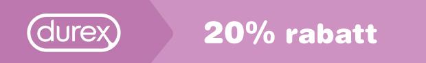 20% på Durex