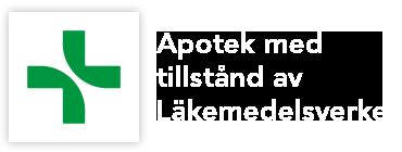 Apotea är ett apotek som är godkänt av läkemedelsverket.