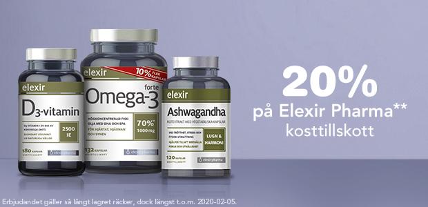 20% på Elexir Pharma**