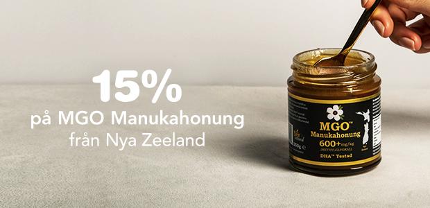 15% på MGO Manuka honung