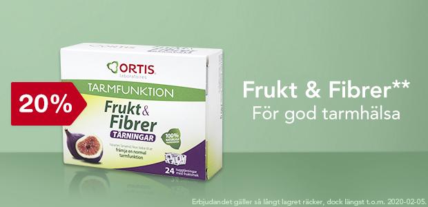 20% på Frukt & Fibrer**