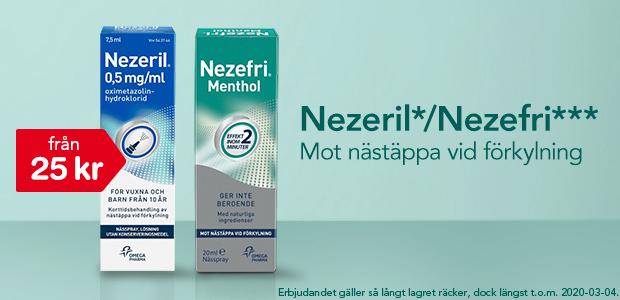 Nezeril*/Nezefri*** - Mot nästäppa vid förkylning