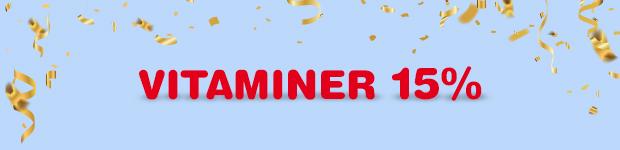 Fynda inom kategorin Vitaminer & Mineraler - nu 15% på allt. Rabatten är redan avdragen på priserna.
