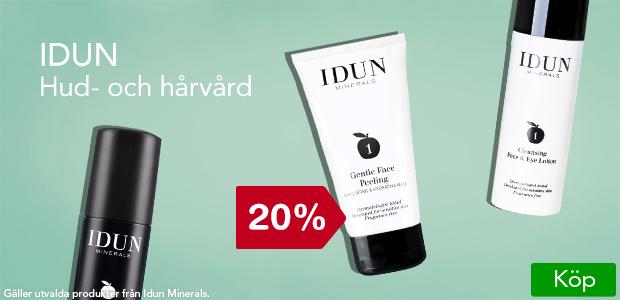 20% rabatt på utvalda produkter från Idun Minerals.