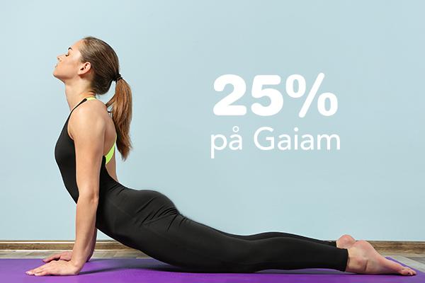 20% på träningsprodukter från Gaiam.