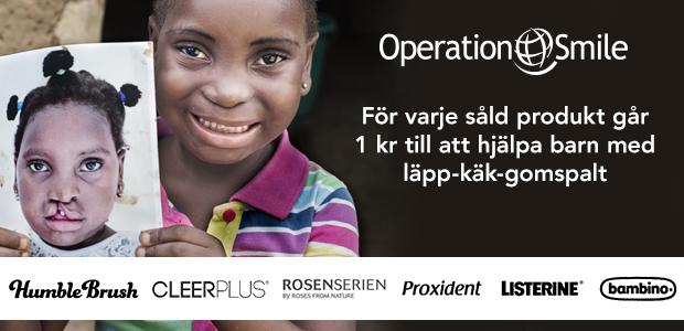 Operation Smile - Hjälp barn med läpp-käk-gomspalt.