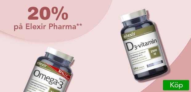 20% rabatt på allt från Elexir Pharma!