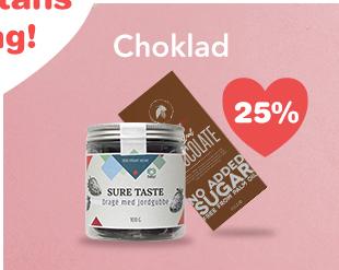 25% på utvald choklad!