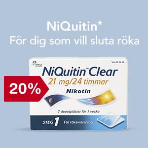 20 % på NiQuitin* - För dig som vill sluta röka