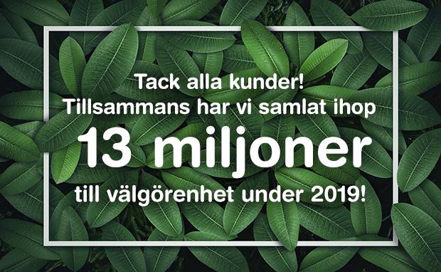 11 000 000 kr till välgörenhet 2019!
