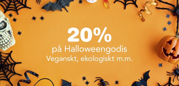 20% på godis och snacks inför Halloween
