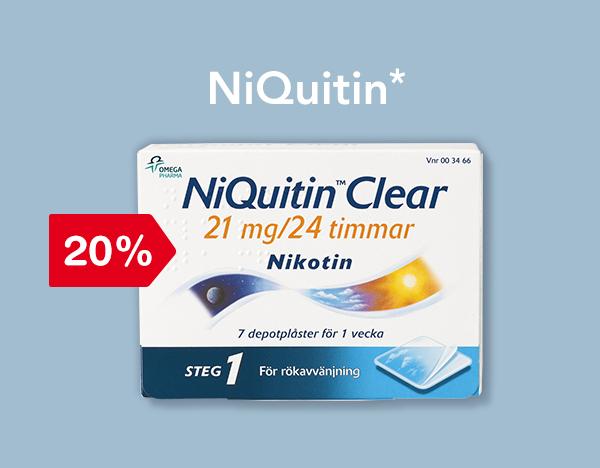 20% på NiQuitin*