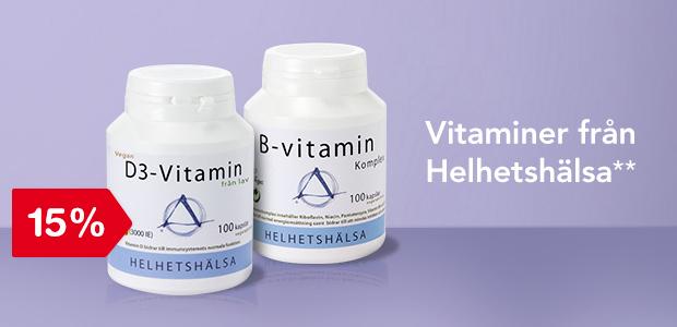 15% på vitaminer från Helhetshälsa**