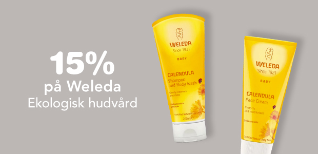 15% på Weleda