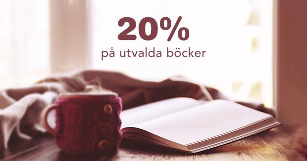20% på utvalda böcker
