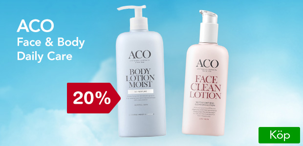 20% på Aco face and body.