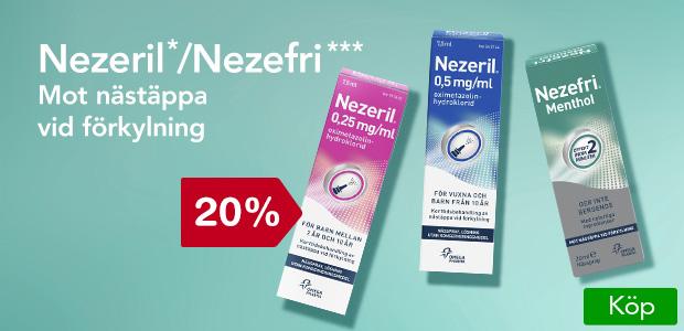 20% på Nezeril/Nezefri.