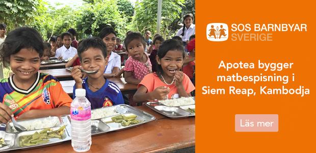 SOS Barnbyar. Apotea bygger matbespisning i Siem Riep, Kambodja.