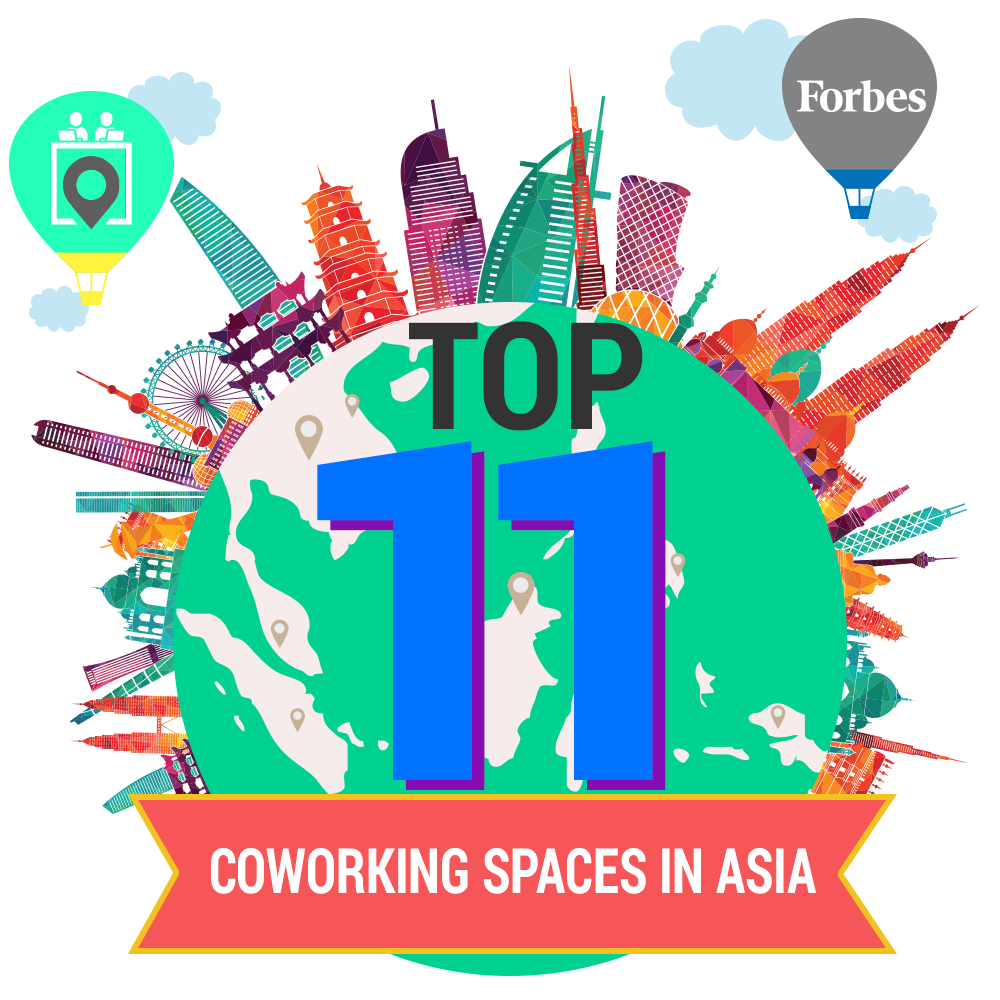 Top 11 coworking spaces in Asia