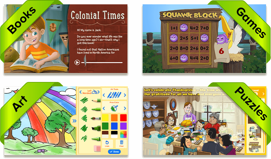 Books, Puzzles, Printables, and Games