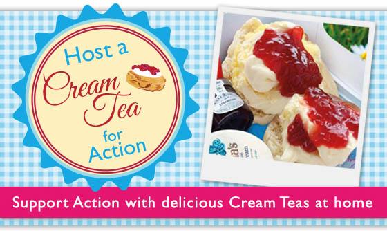 Host a virtual Cream Tea for Action