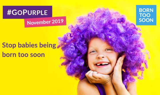 Go Purple image of girl in a purple wig