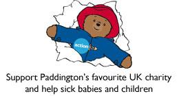 Action's mascot, Paddington Bear