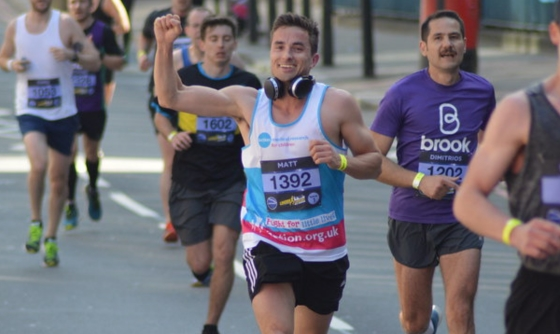 Runner in Action Medical Research vest