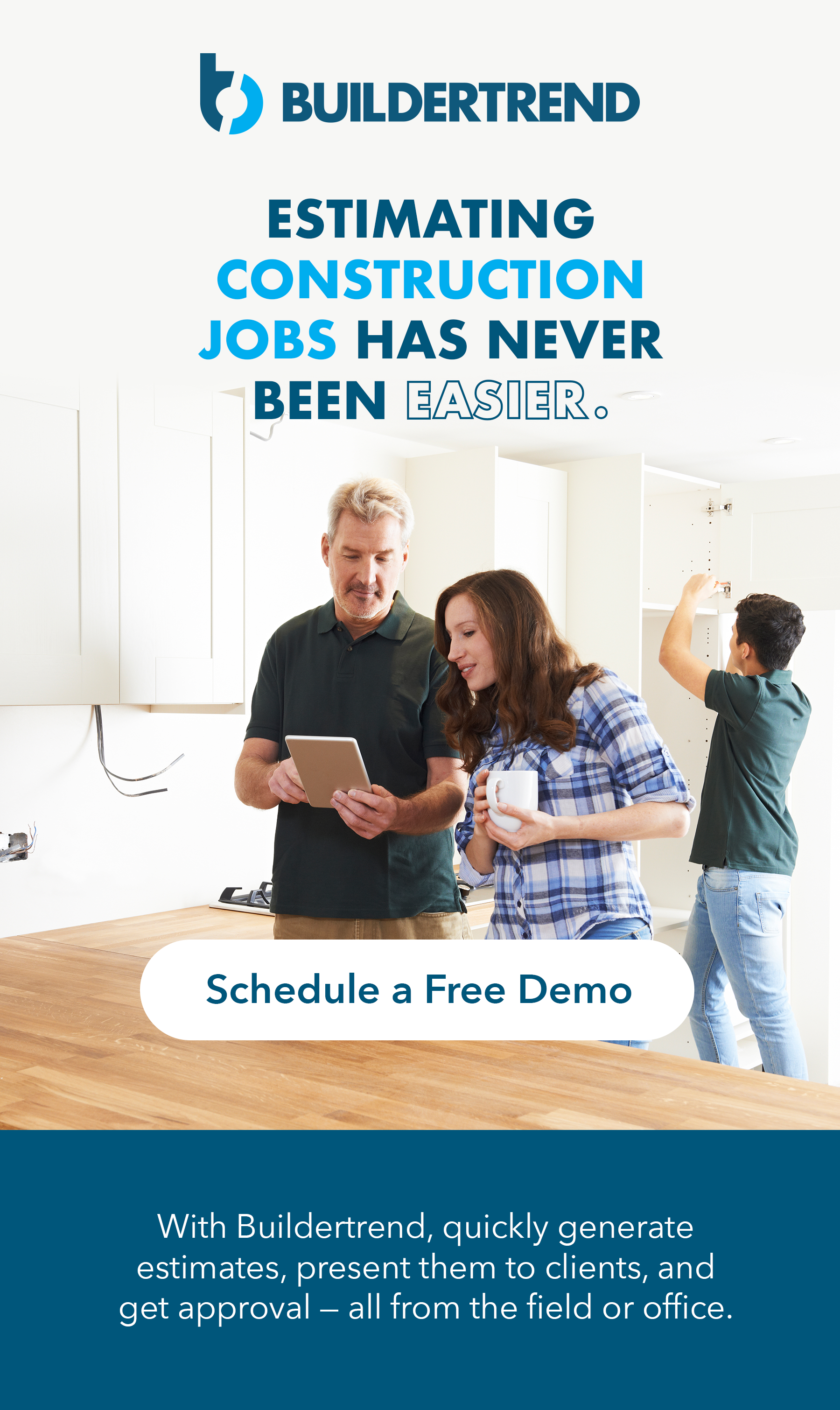 estimating construction jobs has never been easier - schedule a free demo today